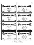 behavior bucks