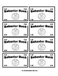 Printable behavior bucks reward bucks for Classroom bucks template