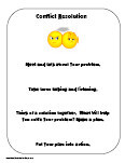 Printables Conflict Resolution Worksheets For Kids conflict resolution charts and printables worksheet