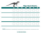 dinosaur behavior chart
