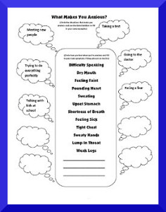 image regarding Free Printable Coping Skills Worksheets for Adults known as Free of charge Printable Stress and anxiety Worksheets Elements Cost-free