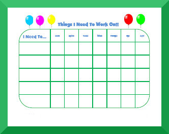 image about Free Printable Behavior Charts identify Free of charge Printable Practices Charts for Youngsters