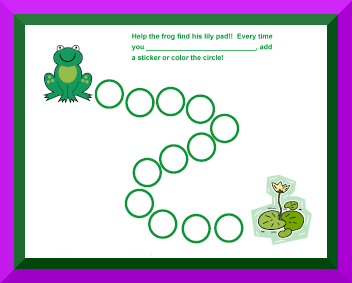 behavior chart with frog