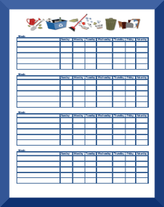 image about Chore Chart Printable Free identify Chore Charts For Small children Ages 11+ Free of charge Printable Chore Charts
