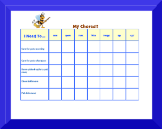 image relating to Chore Chart Printable identified as Cost-free Printable Chore Charts For Children