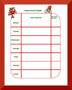 photo about Printable Exercise Chart named Health Patterns Charts