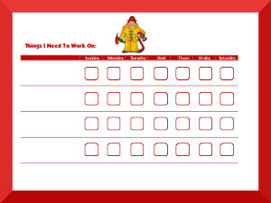 fireman behavior chart
