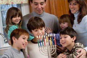 family at hanukkah