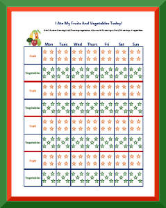 picture about Free Printable Behavior Charts referred to as Patterns Charts towards Observe Healthful Taking in Cost-free Printable