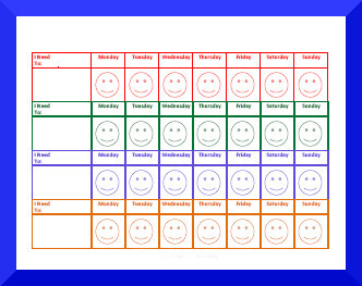 Behavior Charts for One Month at a Time
