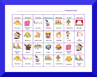 picture about Free Printable Sticker Chart called No cost Printable Routines Charts for Youngsters