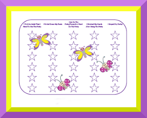 picture about Printable Potty Sticker Chart named Potty Performing exercises Charts