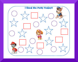 picture regarding Printable Potty Sticker Chart identified as Taking Potty Exercising Charts