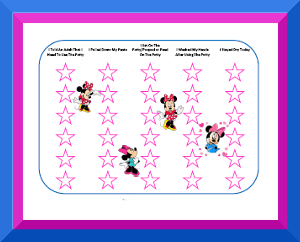 Potty training charts with your favorite characters