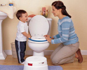 mother and toddler at potty
