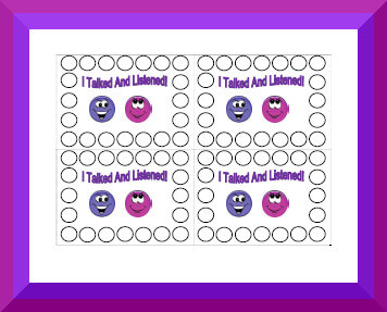 graphic relating to Free Printable Punch Card Template named Printable Habits Punch Playing cards