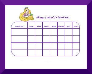 Free Printable Disney Princess Behavior Charts
