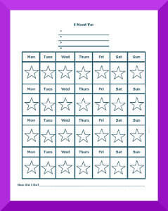 graphic regarding Star Reward Chart Printable titled Star Charts for Children