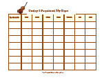 image relating to Music Practice Chart Printable Free called Resource Educate Charts