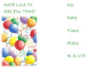 Printable Invitations Birthday