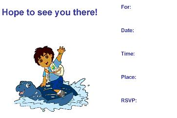 go diego invitation