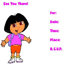 dora explorer invitation