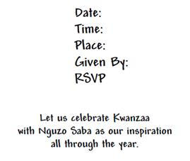 Kwanzaa invitation