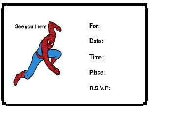 Printable Invitations Printable Birthday Invitations Printable - Spiderman party invitation template