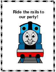 thomas tank engine invitation