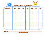 nick jr. behavior chart