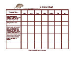pet care chart