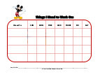mickey mouse with mask behavior chart