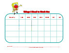 spongebob with mask behavior chart