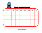thomas tank engine with mask behavior chart